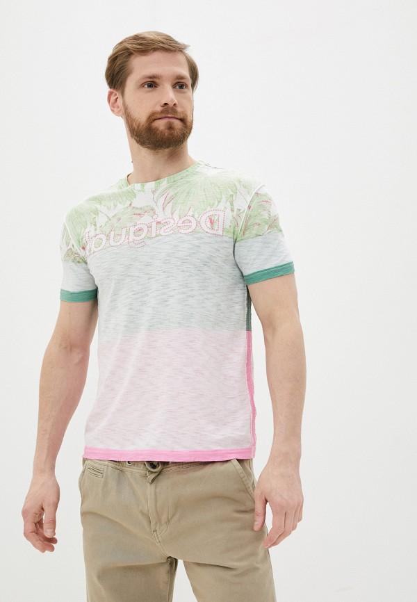 мужская футболка с коротким рукавом desigual, разноцветная