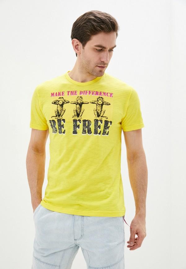 мужская футболка с коротким рукавом desigual, желтая