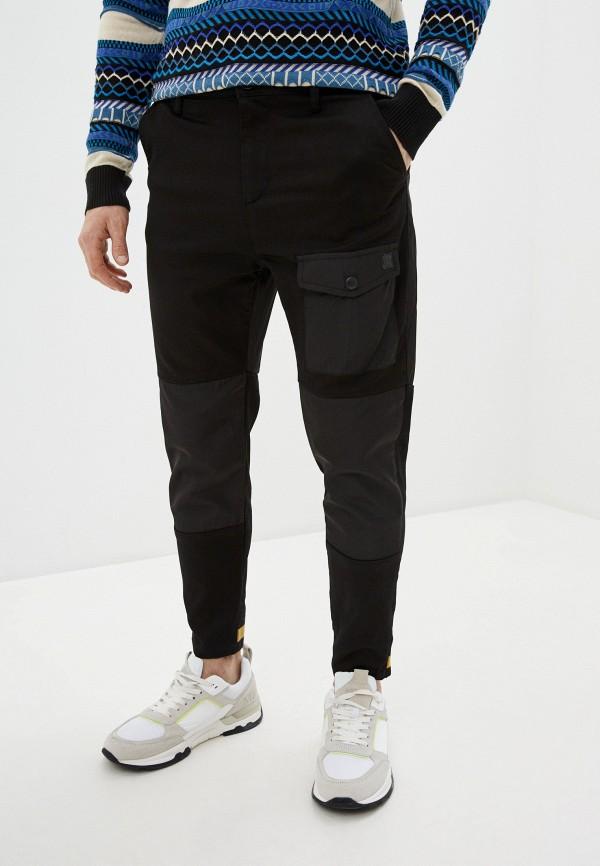 мужские брюки джоггеры desigual, черные