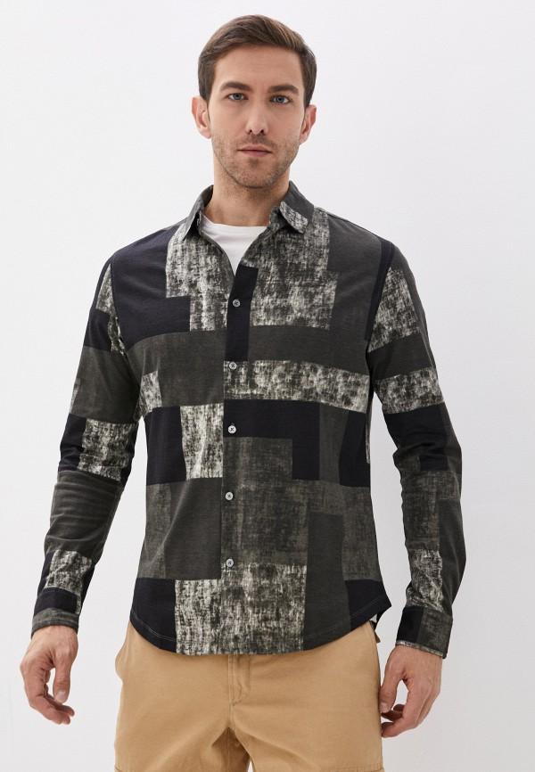 мужская рубашка с длинным рукавом desigual, серебряная