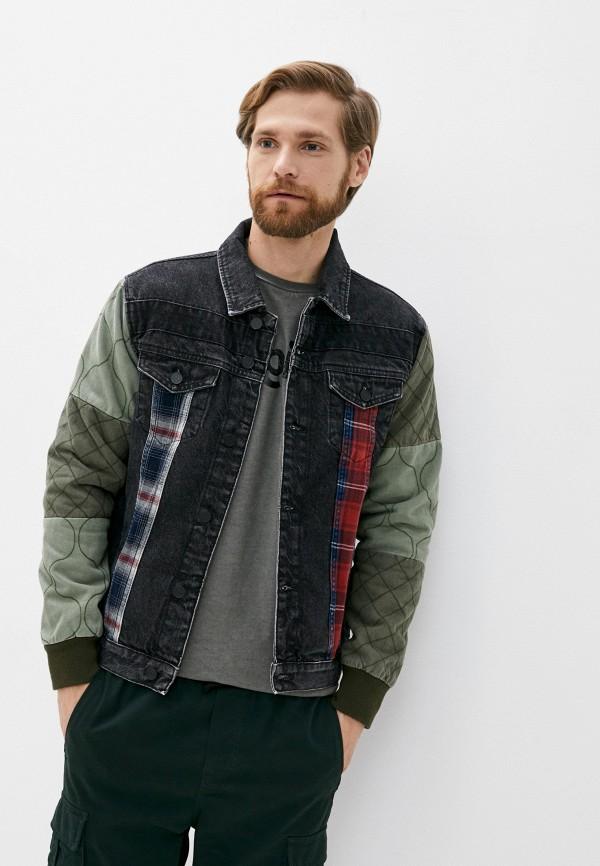 мужская джинсовые куртка desigual, черная