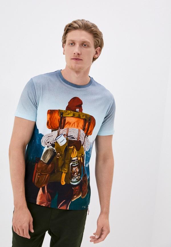 мужская футболка с коротким рукавом desigual, синяя