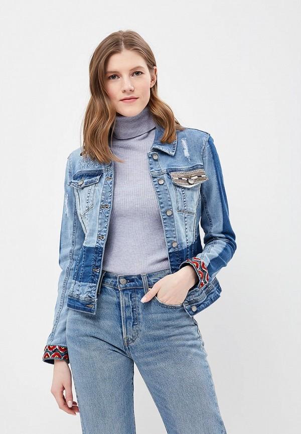 Куртка джинсовая Desigual Desigual DE002EWABXL5 пальто desigual desigual de002ewcccg3