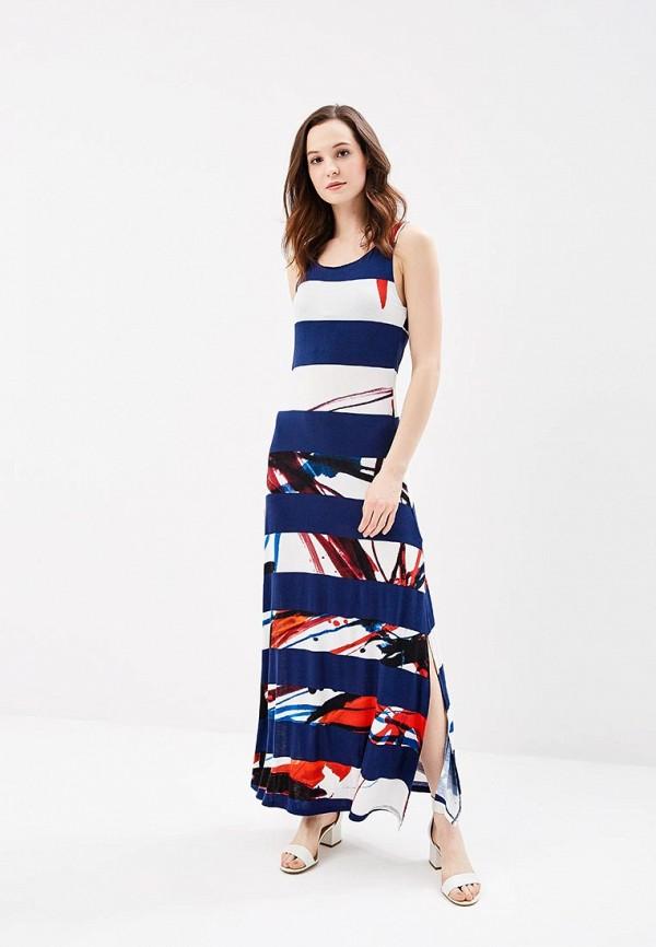 женское повседневные платье desigual, синее
