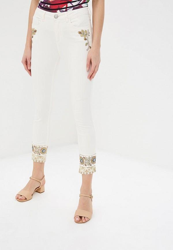 женские джинсы desigual, белые