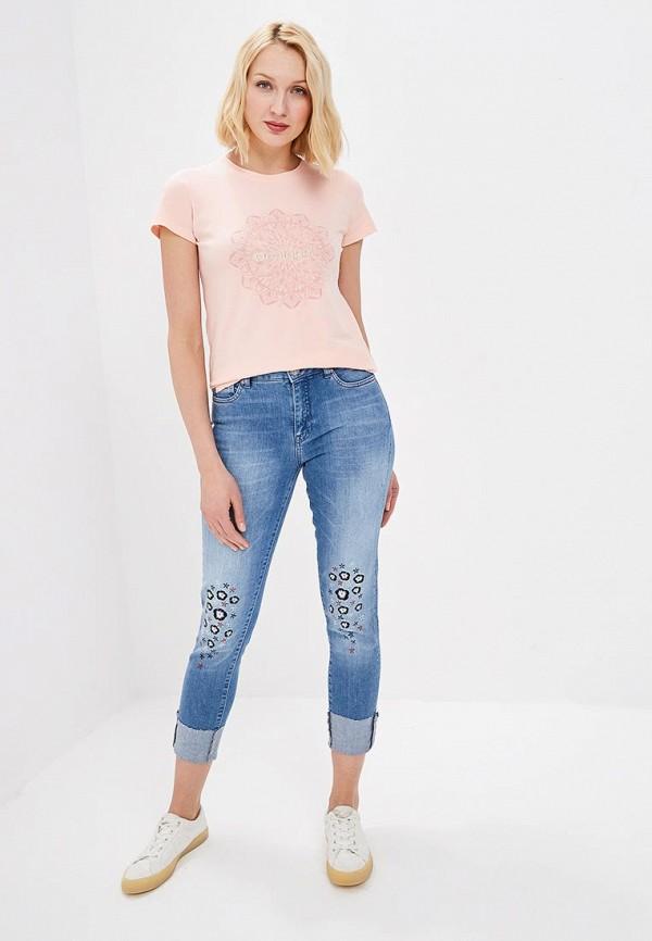 Фото 2 - женские джинсы Desigual синего цвета