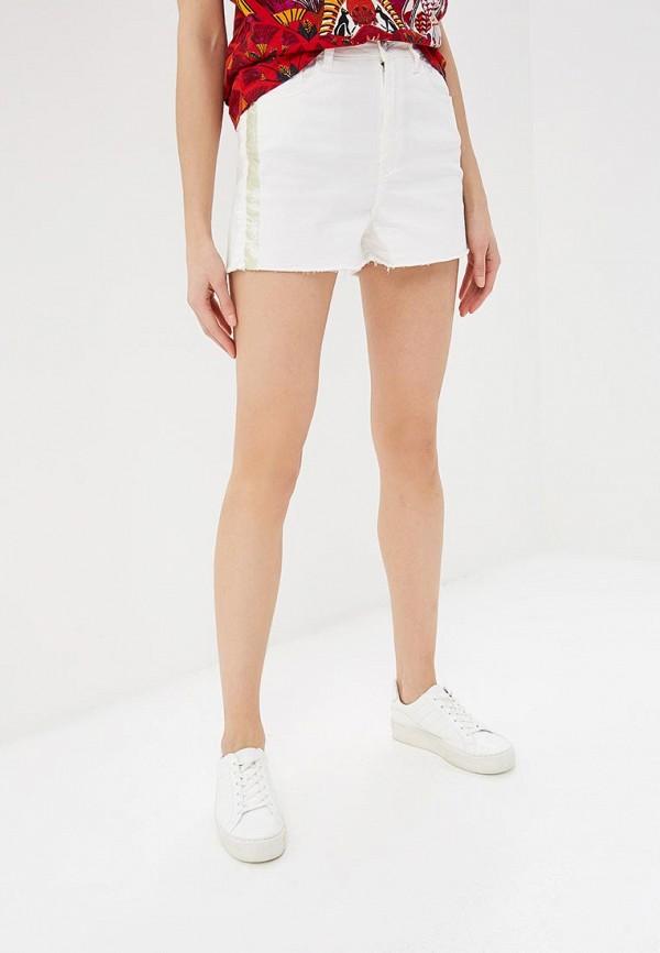 женские джинсовые шорты desigual, белые