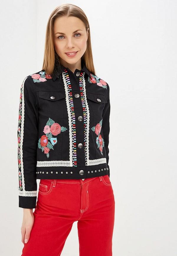 женская джинсовые куртка desigual, черная