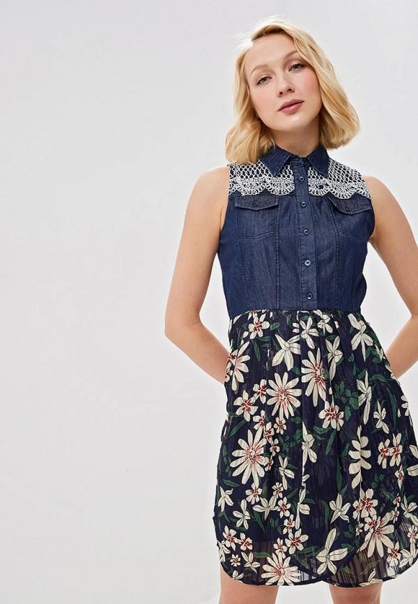 женское джинсовые платье desigual, синее