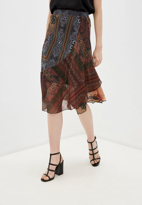 женская юбка desigual, коричневая