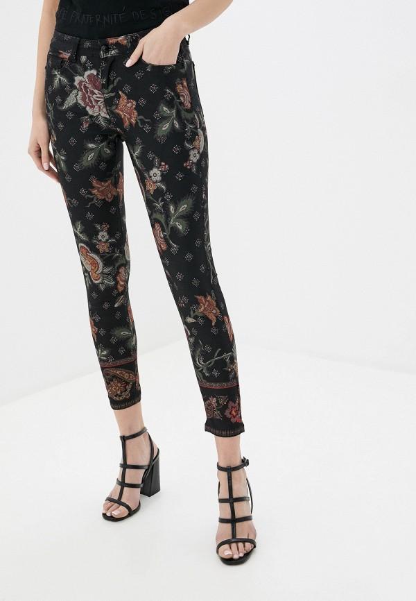 женские повседневные брюки desigual, черные