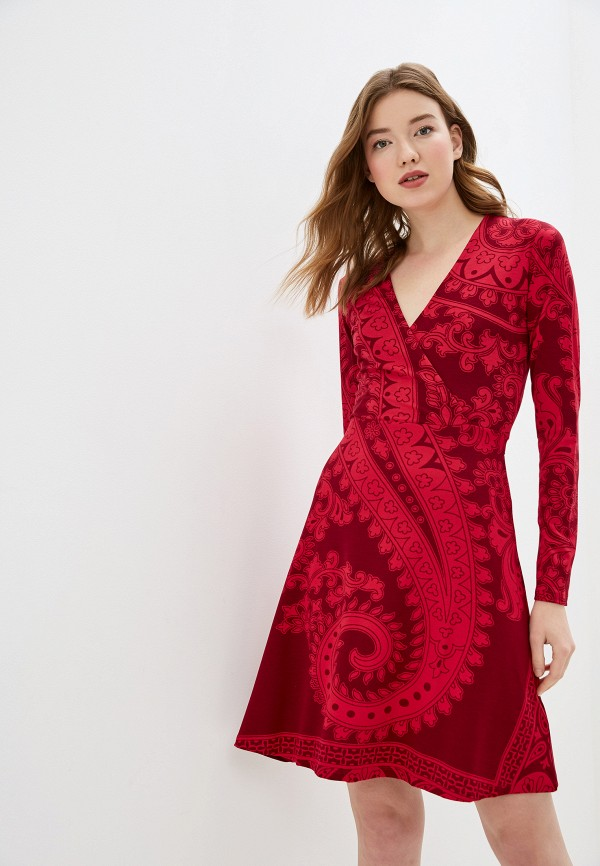 женское повседневные платье desigual, розовое