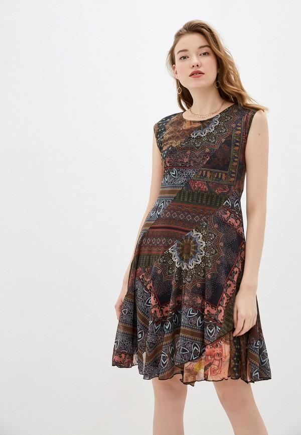 женское повседневные платье desigual, разноцветное