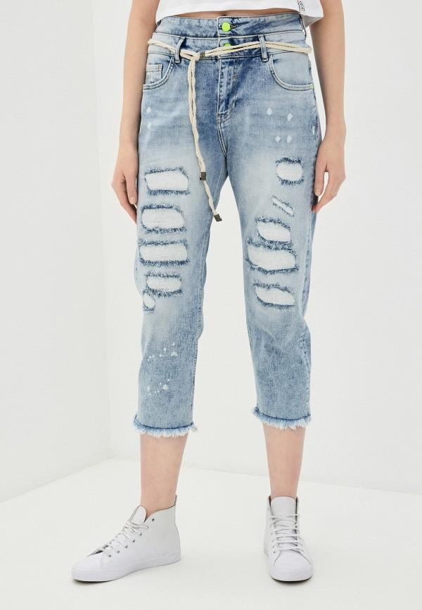 женские джинсы бойфренд desigual, голубые