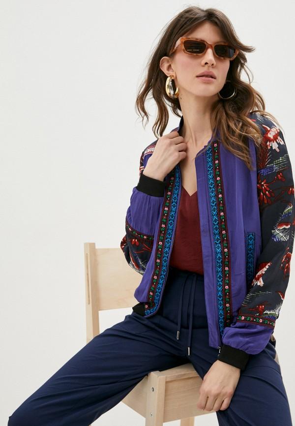 женская куртка desigual, синяя