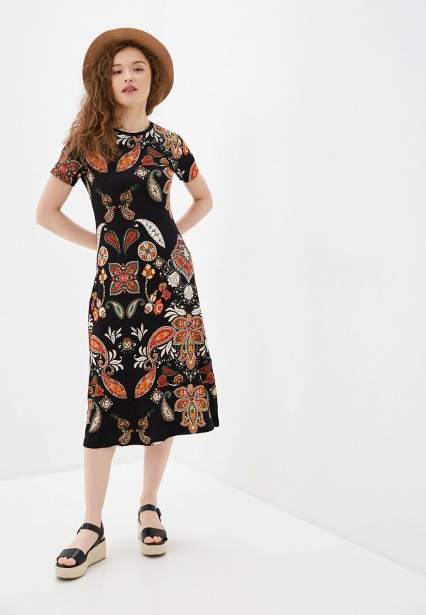 женское платье-футболки desigual, черное