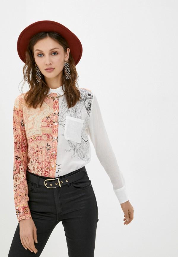 женская блузка desigual, разноцветная
