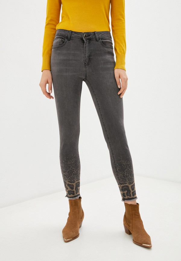 женские джинсы desigual, серые