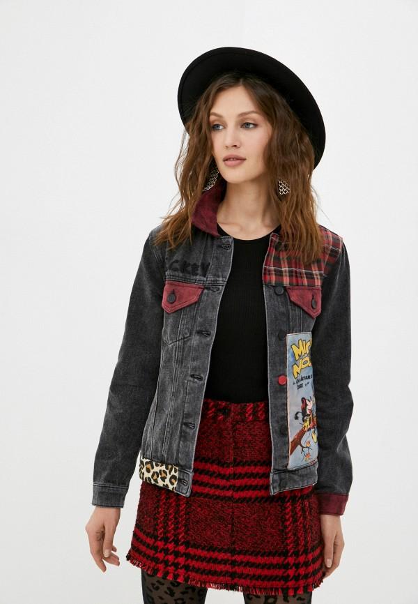 женская джинсовые куртка desigual, серая