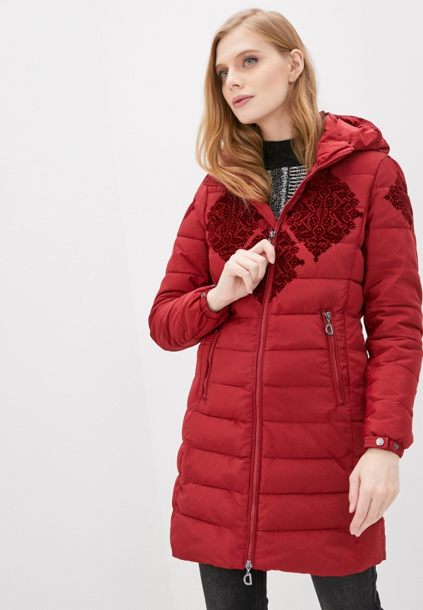 женская куртка desigual, красная