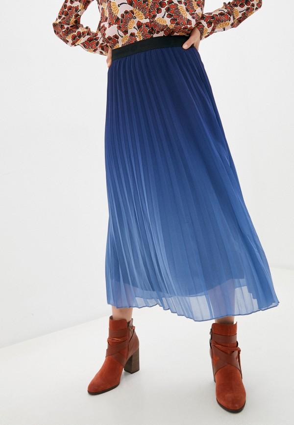 женская юбка desigual, синяя