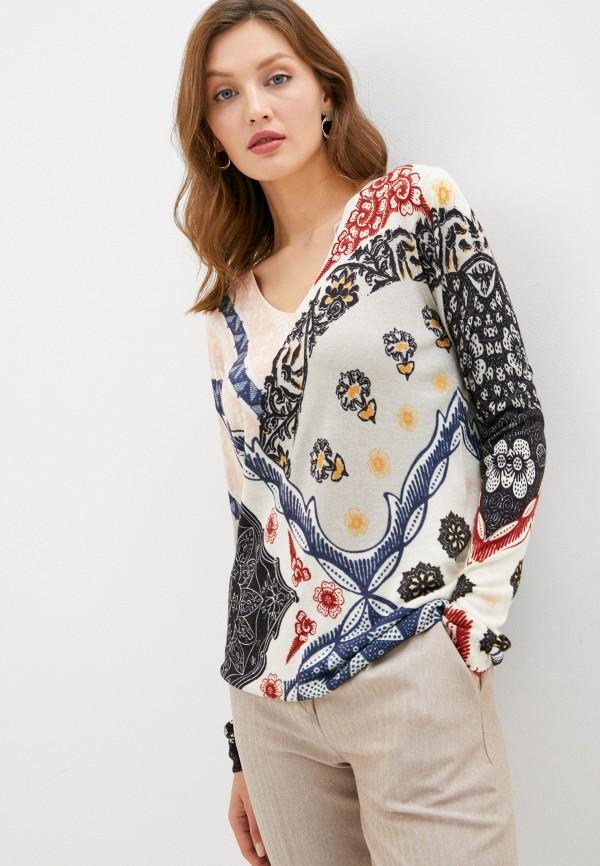 женский пуловер desigual, бежевый
