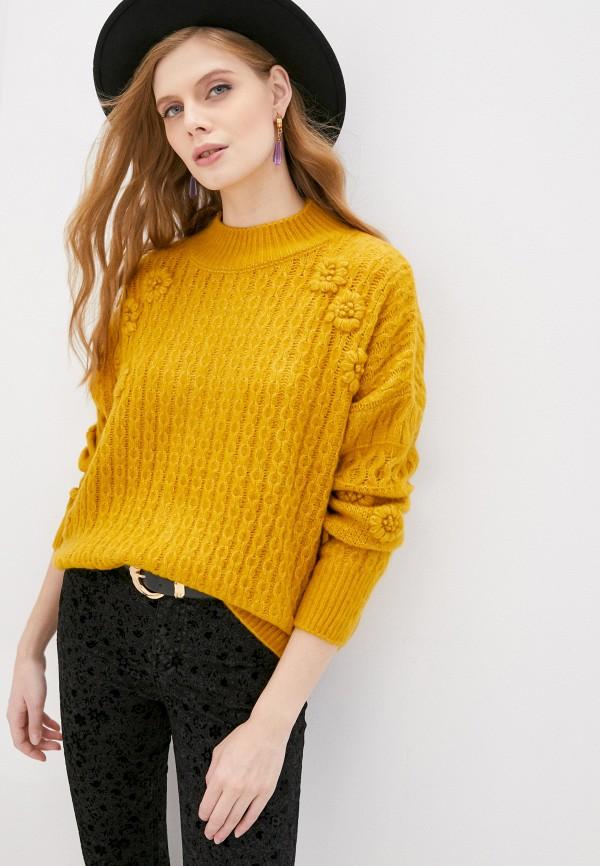 женский джемпер desigual, желтый