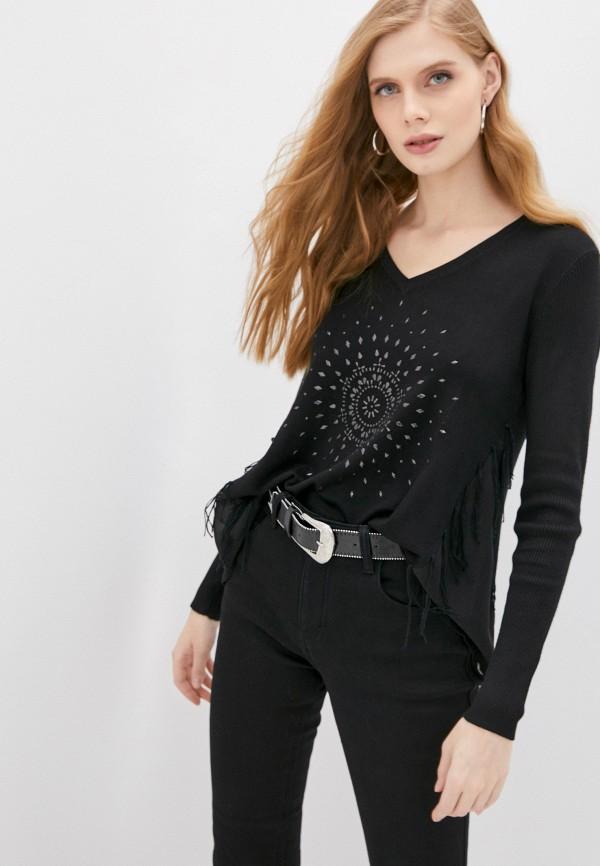 женский пуловер desigual, черный
