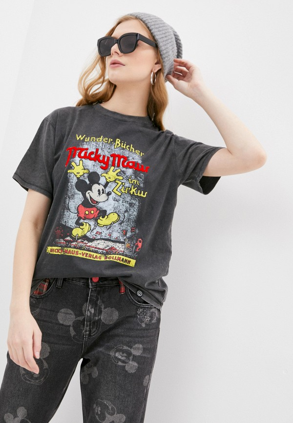женская футболка desigual, серая