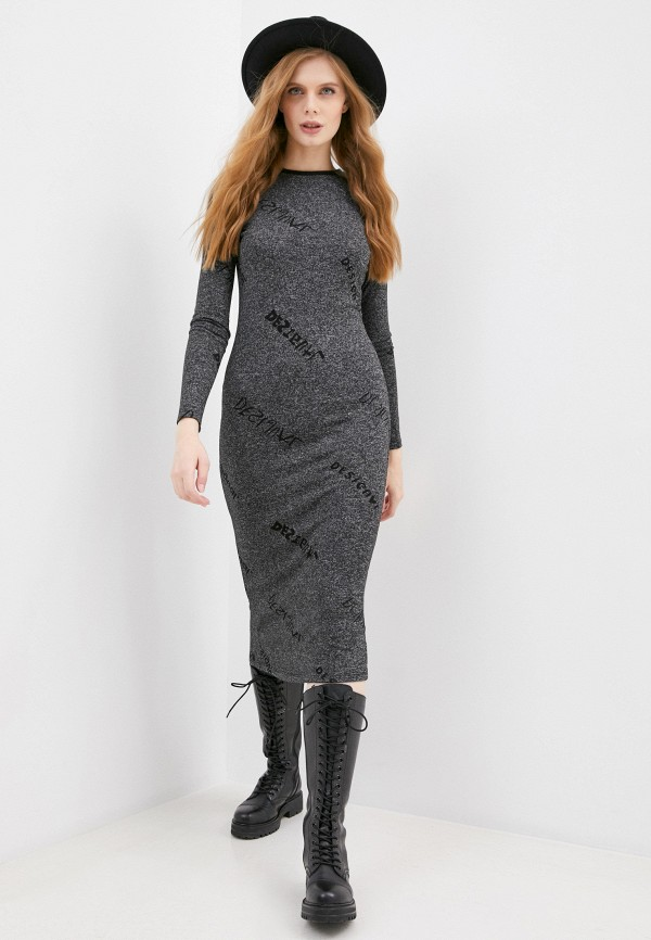 женское платье desigual, серое