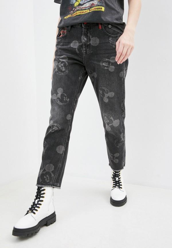 женские прямые джинсы desigual, серые