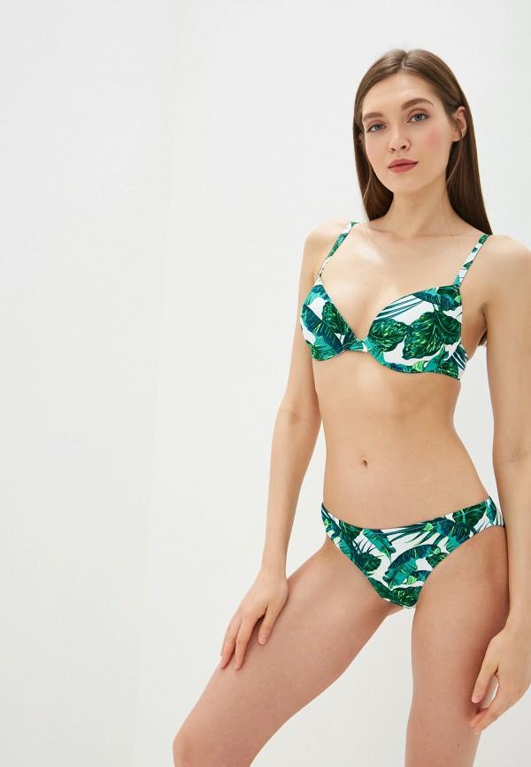 женские плавки дефиле, зеленые