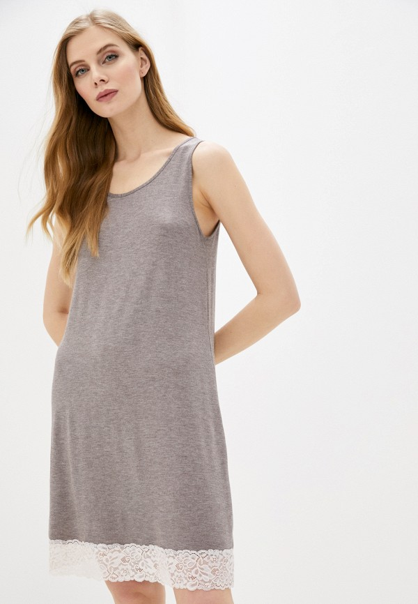 женские сорочка ночная дефиле, бежевые