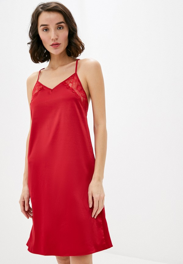 женские сорочка ночная дефиле, красные