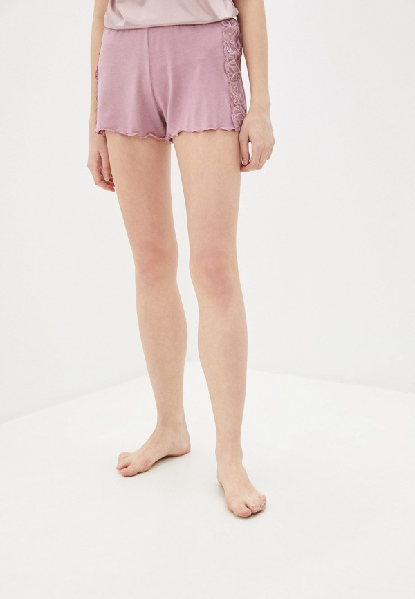 женские шорты дефиле, розовые