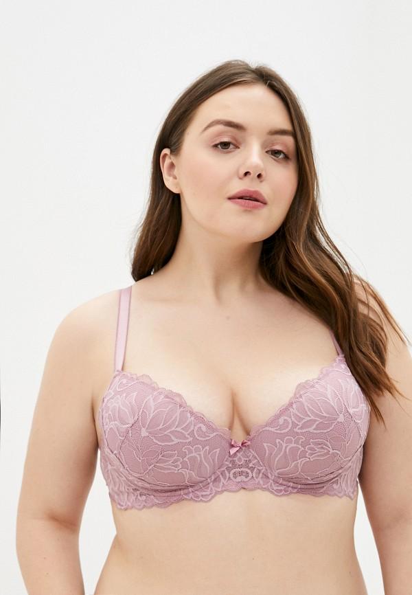 женский бюстгальтер дефиле, розовый
