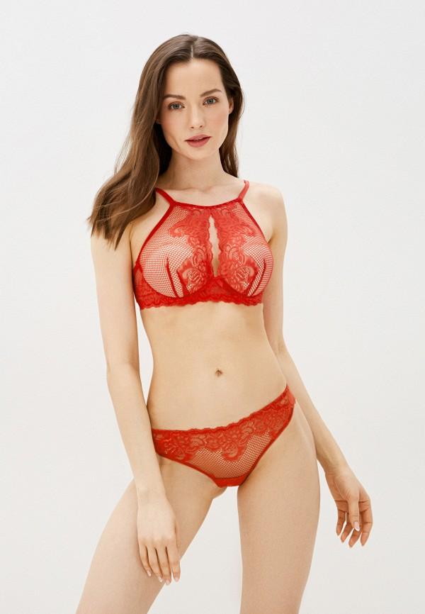 женский бюстгальтер дефиле, красный