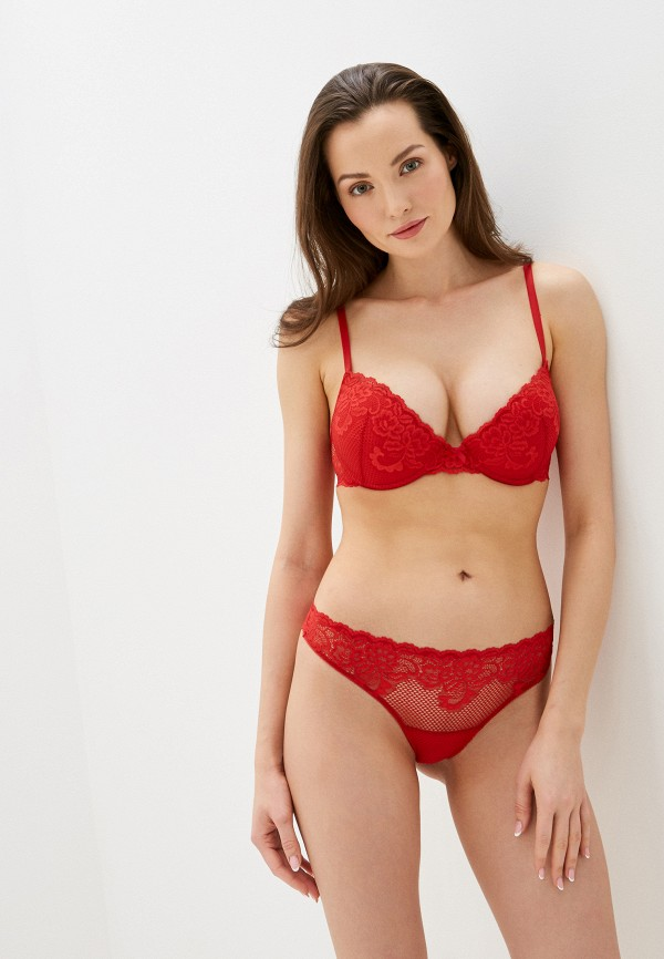 женские трусы-стринги дефиле, красные