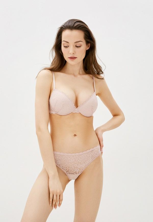 женский бюстгальтер push-up дефиле, розовый