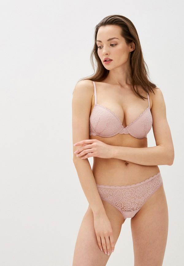 женские трусы-слипы дефиле, розовые