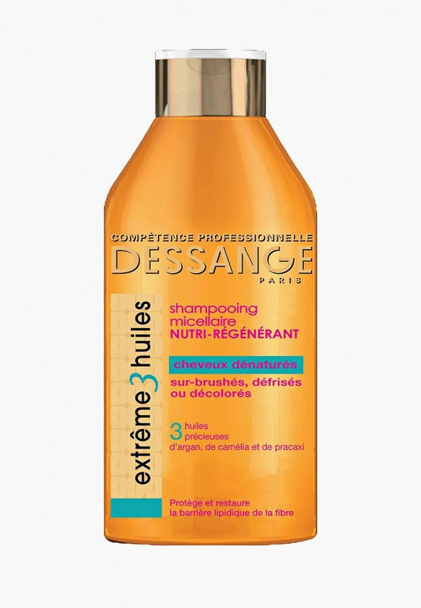Купить Шампунь Dessange, для волос Extreme 3 масла экстремальное восстановление для сильно поврежденных волос 250 мл, DE021LWFKF50, прозрачный, Осень-зима 2018/2019
