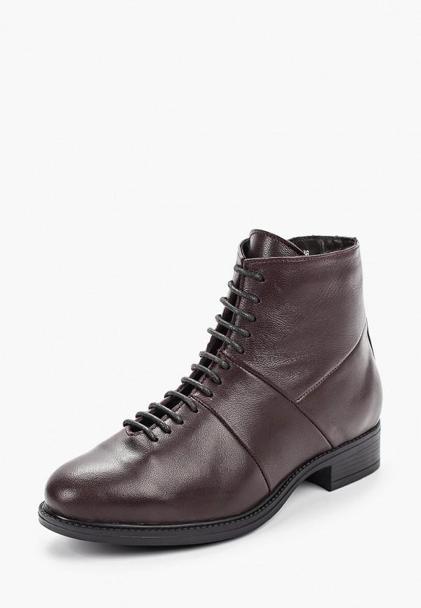 Фото 2 - женские ботинки и полуботинки Der Spur бордового цвета