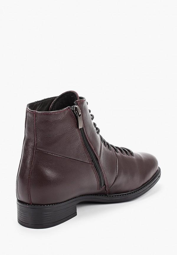 Фото 3 - женские ботинки и полуботинки Der Spur бордового цвета