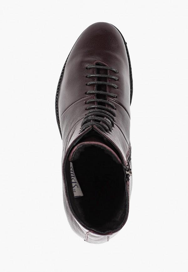 Фото 4 - женские ботинки и полуботинки Der Spur бордового цвета