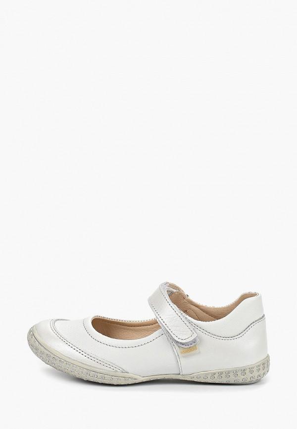 туфли детский скороход для девочки, белые