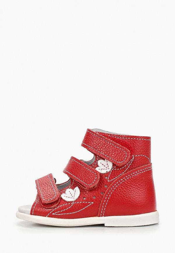сандалии детский скороход для девочки, красные