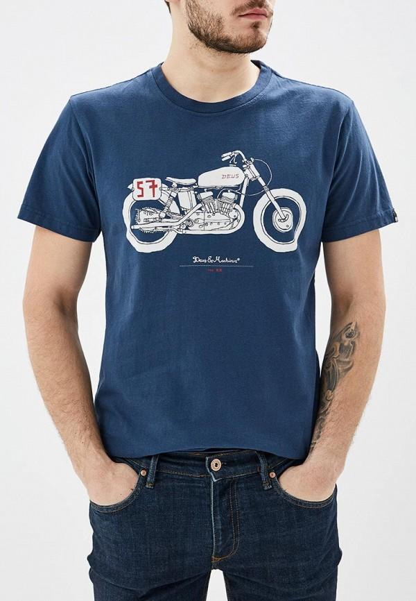 мужская футболка с коротким рукавом deus ex machina, синяя