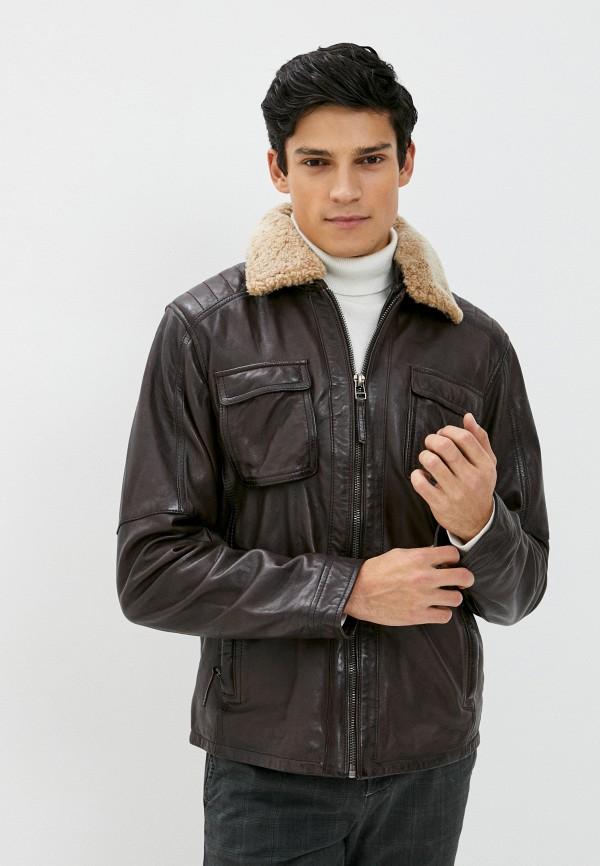 мужская куртка deercraft, коричневая