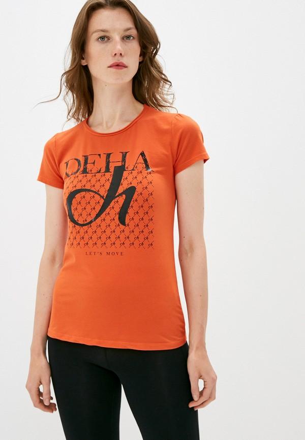 женская футболка deha, оранжевая