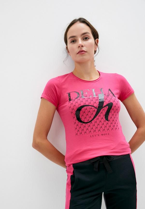 женская футболка deha, розовая